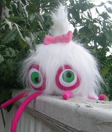 white furry monster - Beth