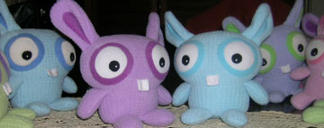 new colours for the plush toy waffle bunnies